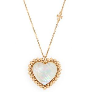 TORY BURCH • Mother-Of-Pearl Pendant Necklace